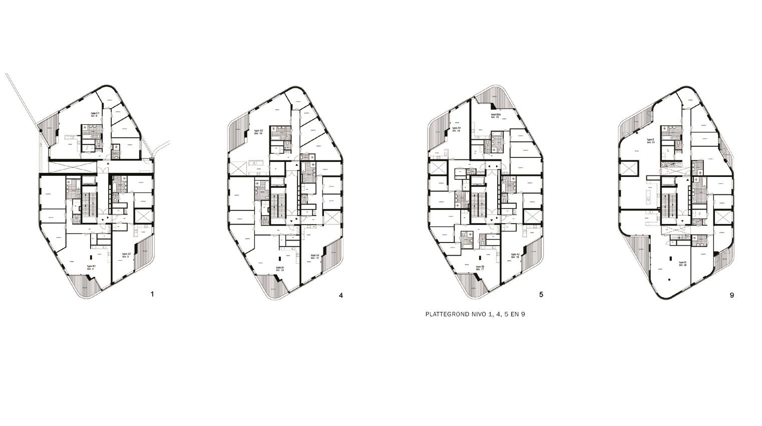 Parktoren Noordwijkerduin plattegronden