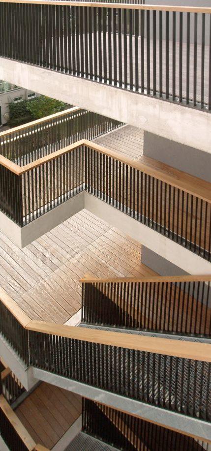 Lootsbuurt – Detail trappen en galerijen