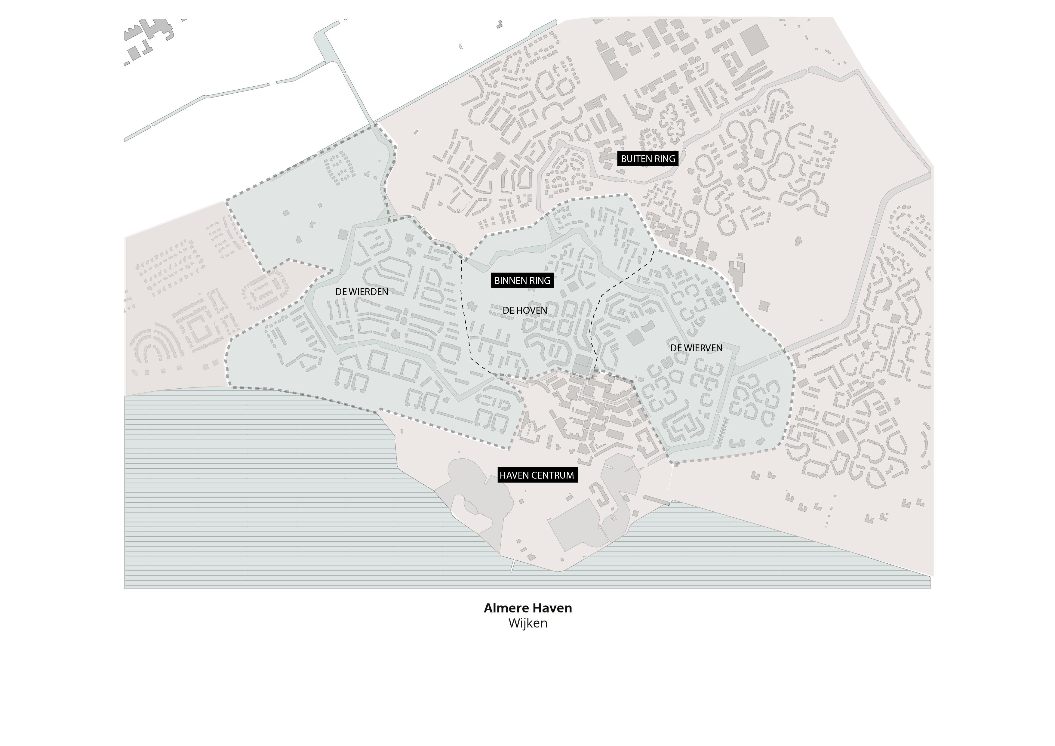 Koppelknopen Almere Haven – Wijken
