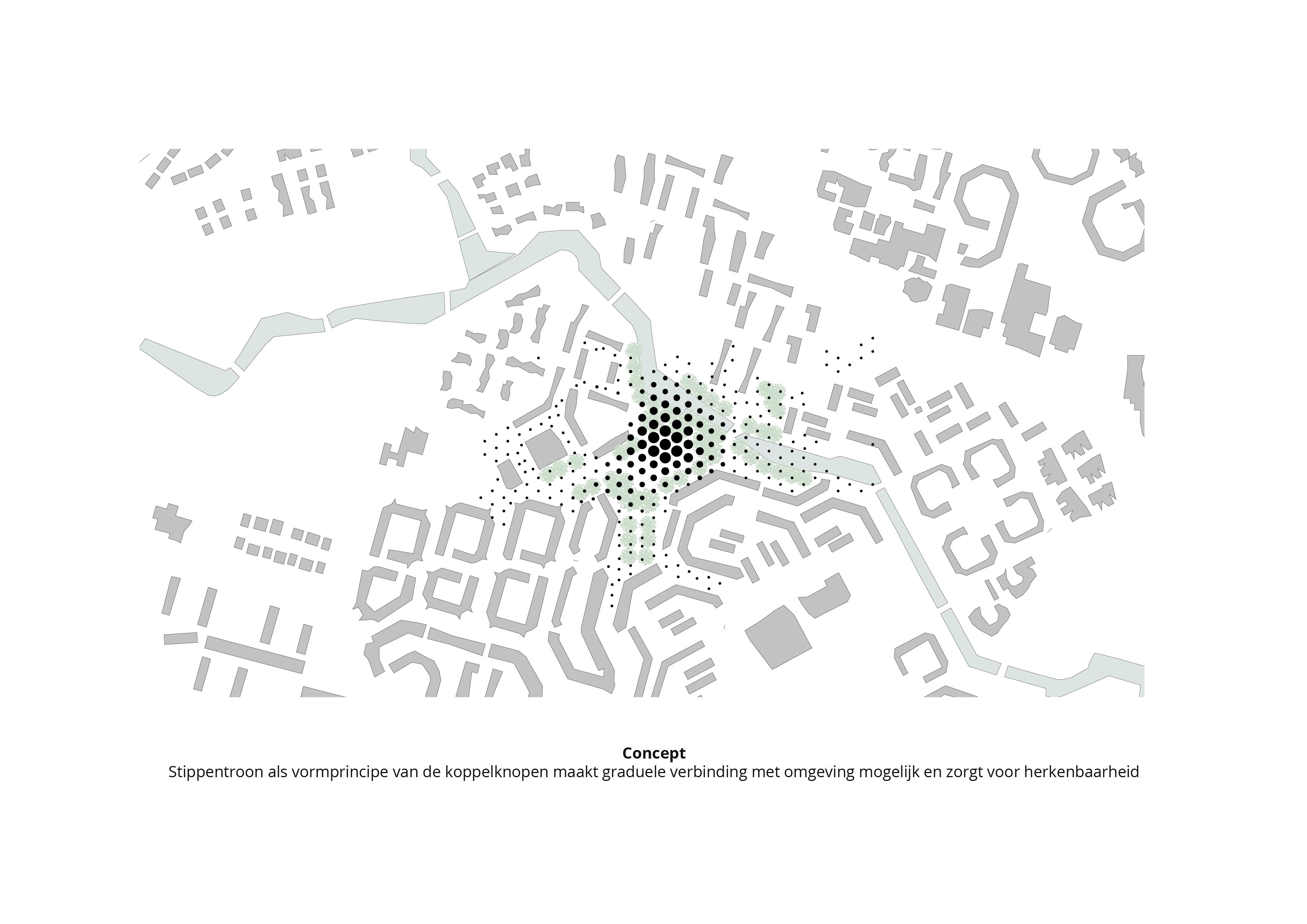 Koppelknopen Almere Haven – Driehoek grid