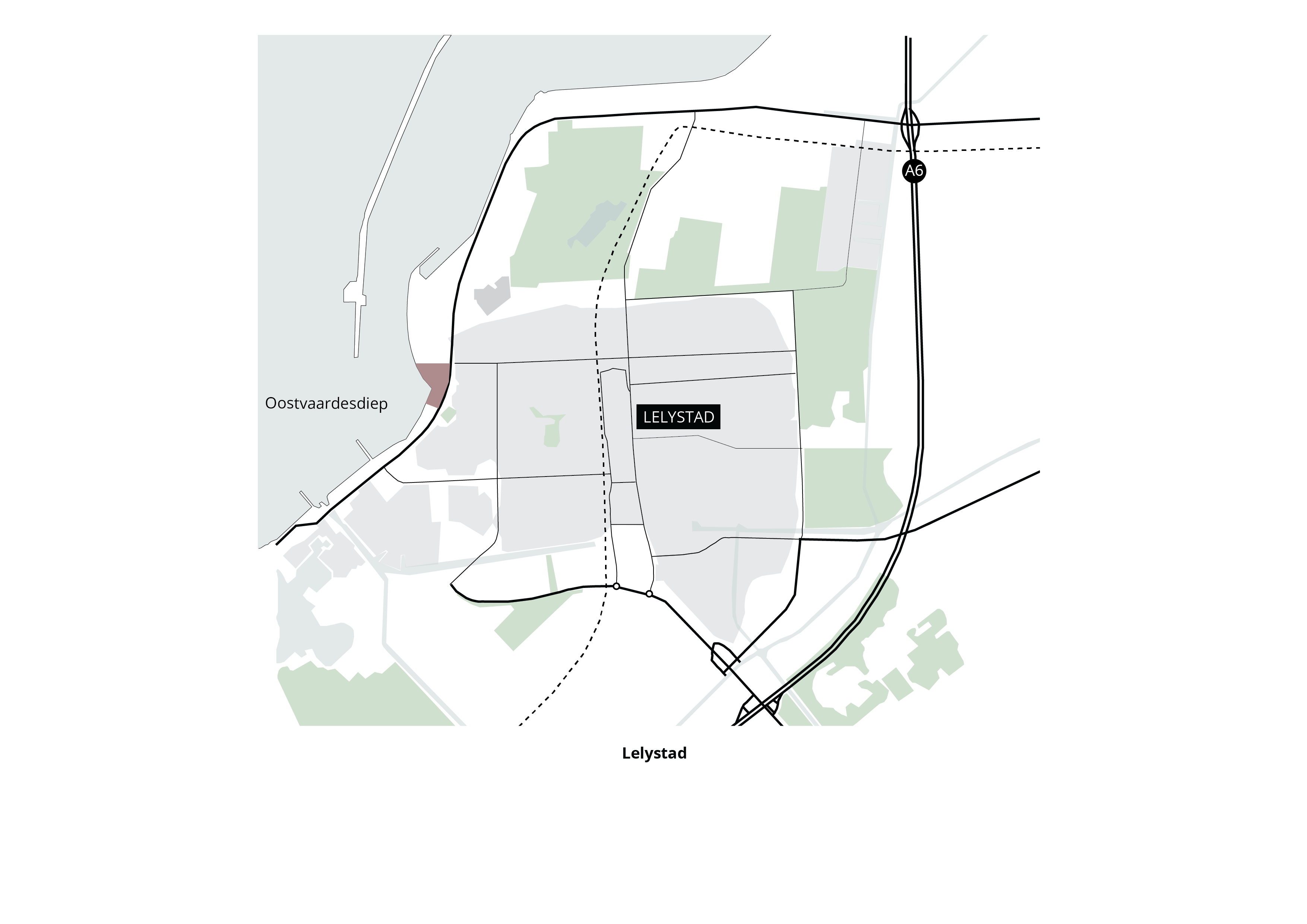 Havenkwartier Lelystad – Ligging in de stad