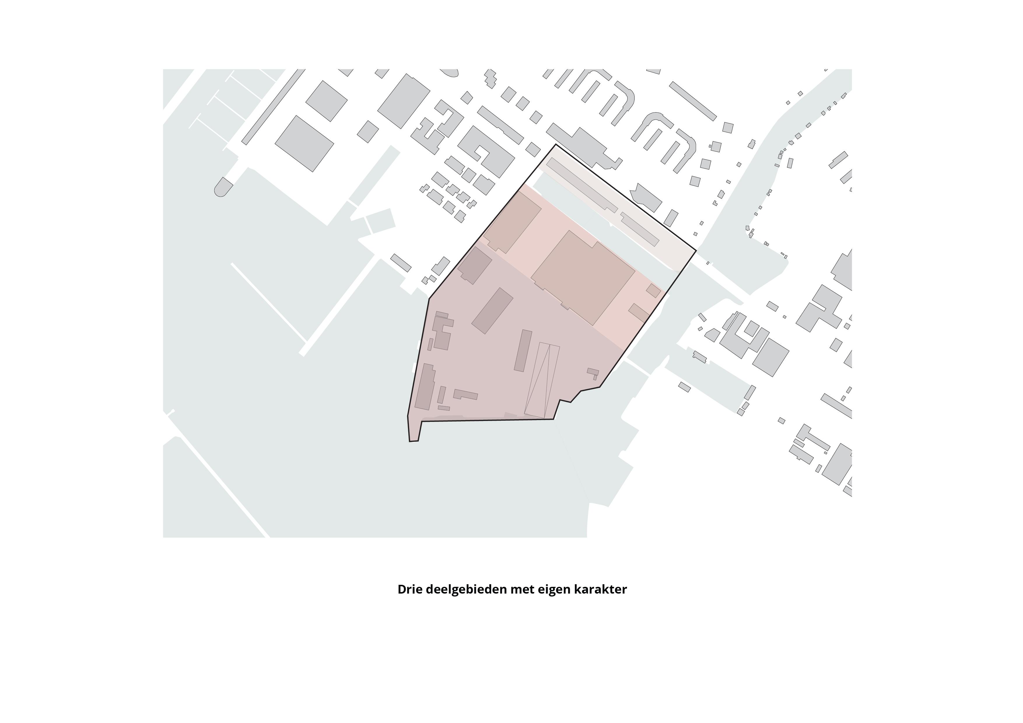 NDSM terrein – Drie deelgebieden