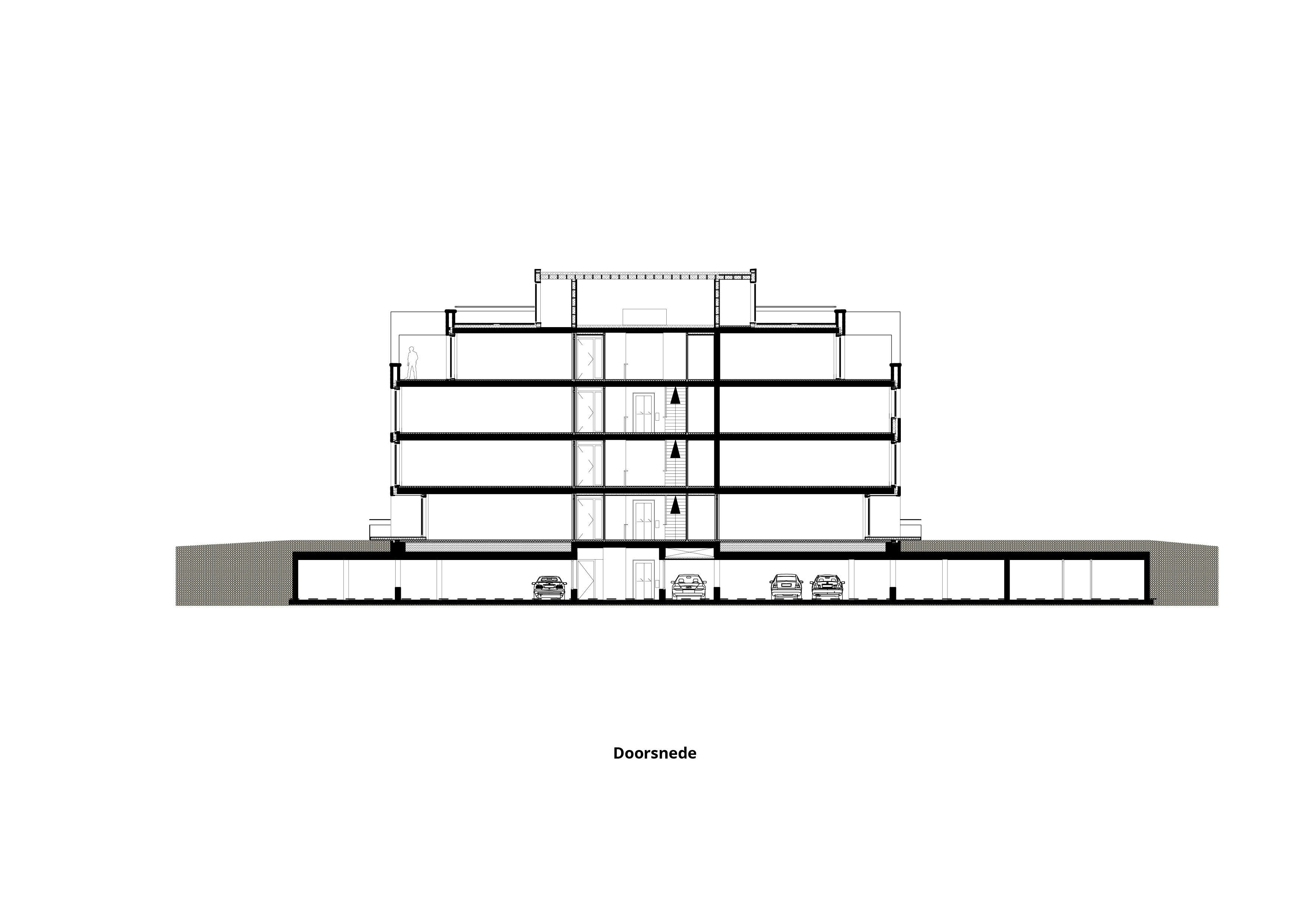 Laanvilla's Noordwijkerduin – Doorsnede
