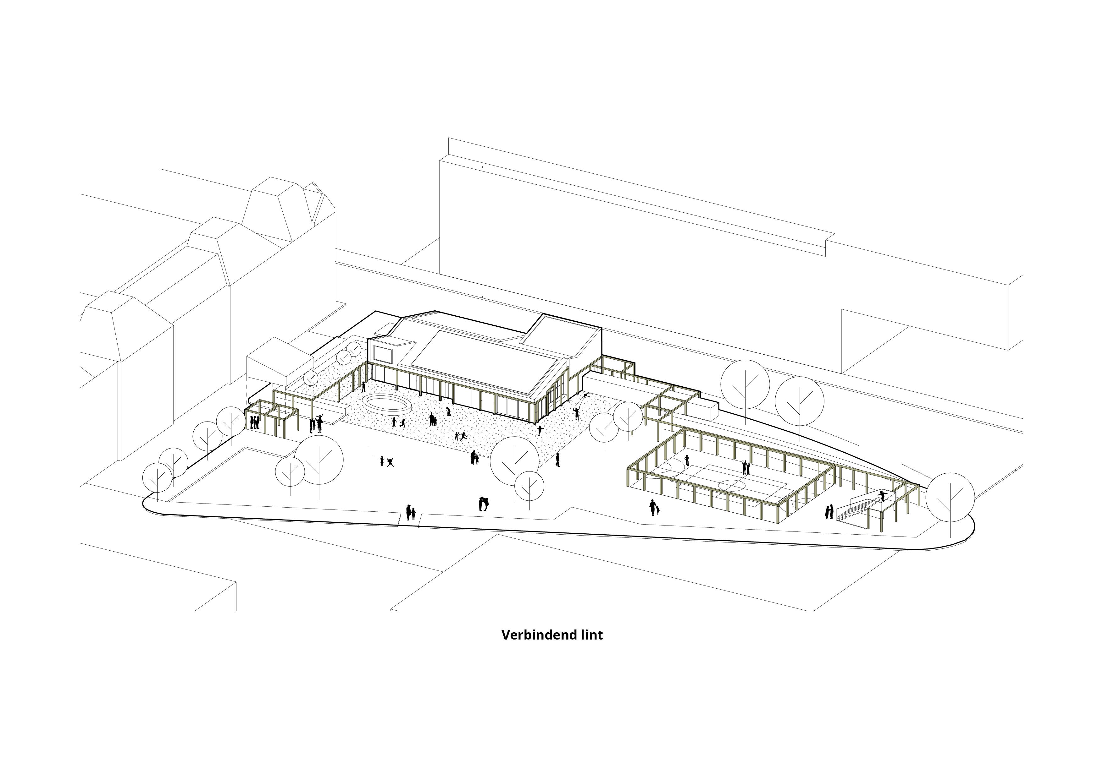 Speeltuingebouw Barentzplein – Verbindend lint